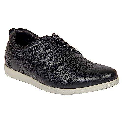 Franco Leone Black Men's Casual Shoes