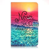 Samsung Tab A 10.1 Tablet Cover,Samsung Galaxy SM-T580 case,Samsung T585 Sleeve,Leather Cover Slim Protector with Flip Cover for Samsung Galaxy Tab A 10.1 2016 Tablet-Dreaming