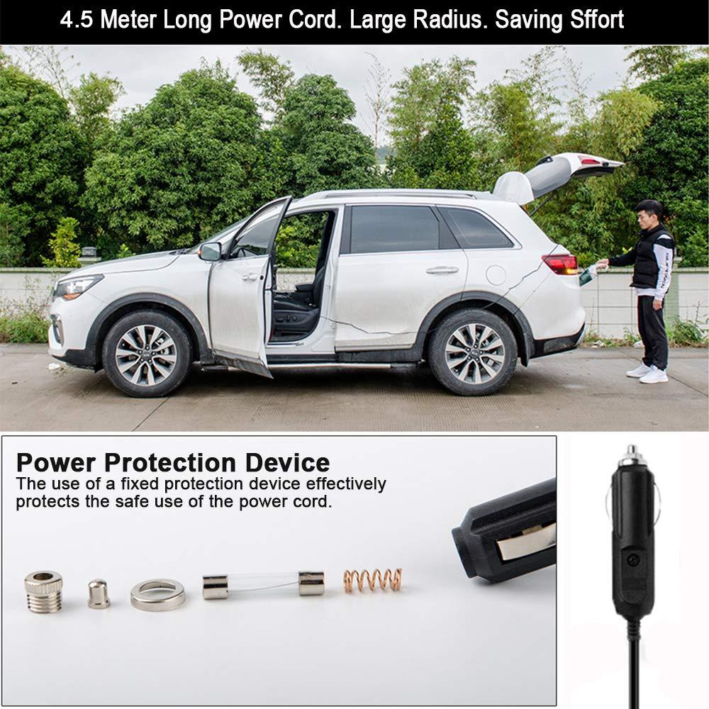 PATISZON Handstaubsauger Autostaubsauger 6000Pa Auto Staubsauger 120W mit Aufbewahrungsbeutel Licht Schwarz