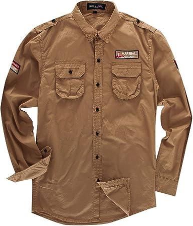 Star-bw Camisa Hombre Militar Manga Larga gant Juvenil Slim fit Casual: Amazon.es: Ropa y accesorios