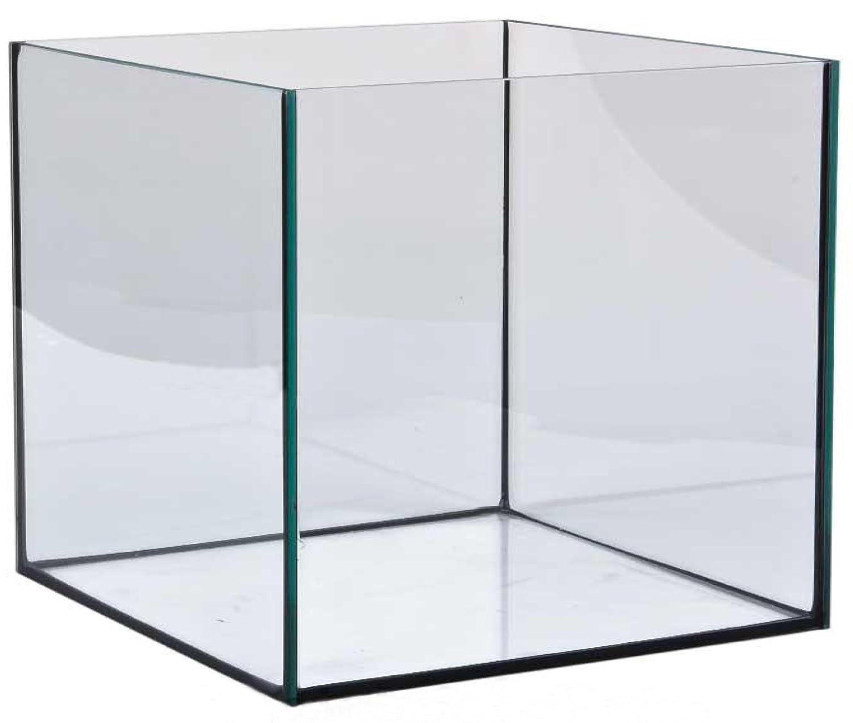 Aquarium Würfel 30x30x30 cm Glasbecken Nano Becken Aquarium schwarz verklebt FavoPet