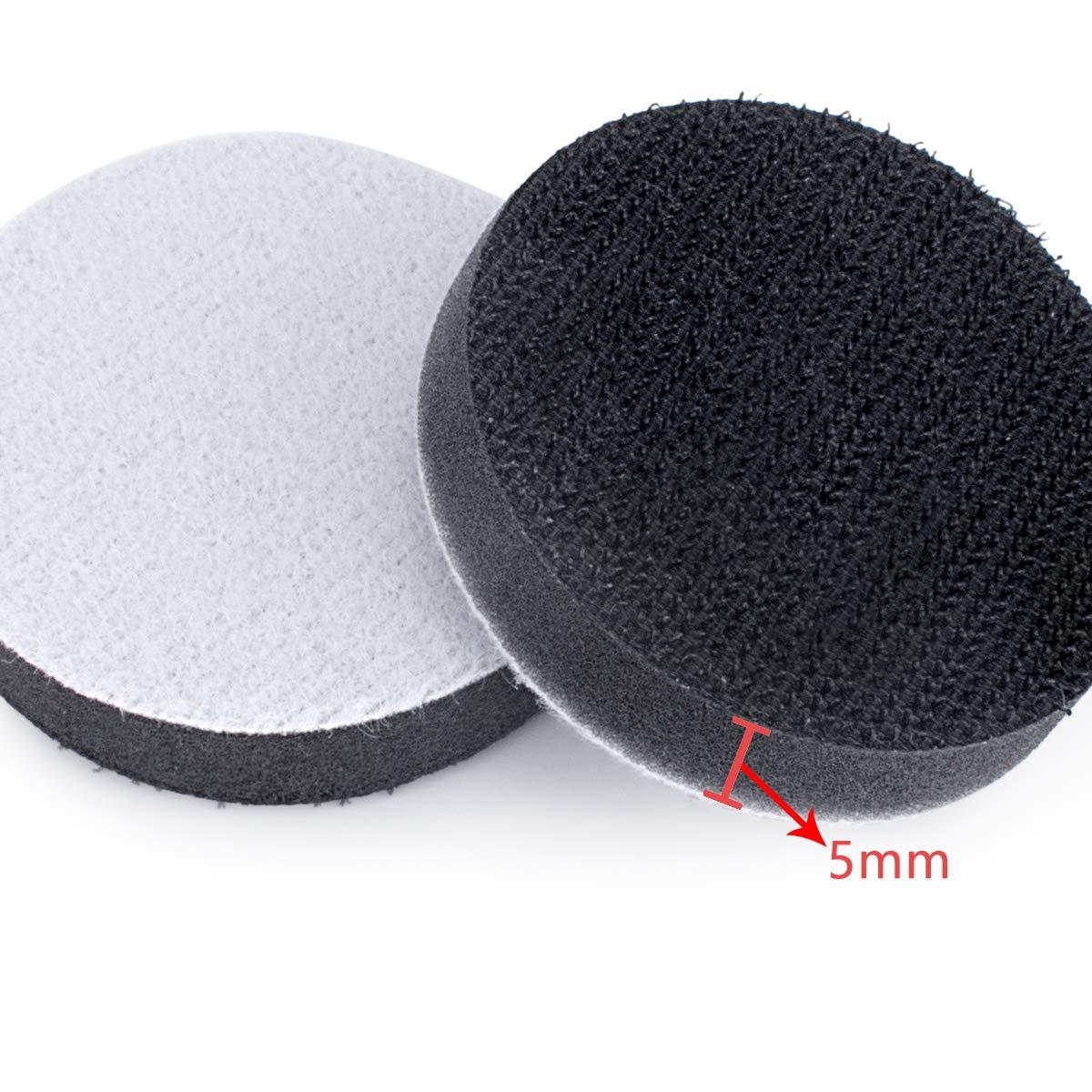 TopDirect 6pcs 2//50mm Support de Disque Pad avec 6.35mm Tige Outil Rond Rotatif Roloc Pon/çage Polissage Lustrage Traitement de Surface Disques de Blocage Rouleau