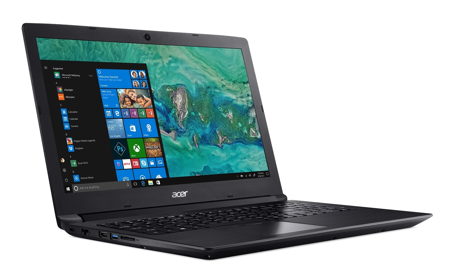 "Acer Aspire 3 A315-41-R001, 15.6"" Full HD, AMD Ryzen 5 2500U, 8GB DDR4, 256GB SSD, Windows 10 Home, Black"