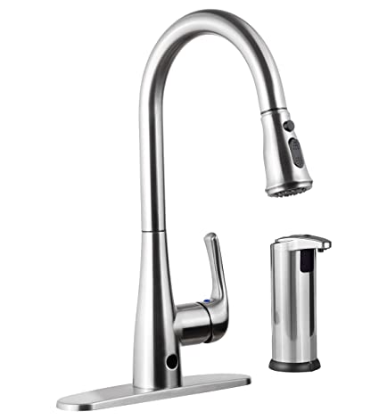 Exceptionnel Templeton Kitchen Faucet   Touch Free Automatic Spray U0026 Bonus Hands Free  Soap Dispenser     Amazon.com