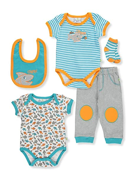 Amazon Com Duck Duck Goose Baby Boys 5 Piece Layette Set
