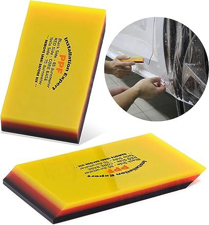 Ehdis Tergipavimento TPU a Doppio Bordo 75 e 85 Durometro Durezza per vetri per Auto Pellicola per vetri Pellicola per la Pulizia del Vetro Raschietto