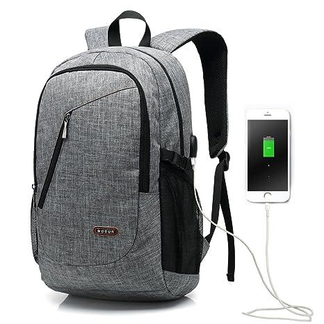 15.6 pulgadas USB de trabajo mochila / mochila de negocios / mochila de ordenador portátil para hombres y mujeres, negro peso ligero resistente ...