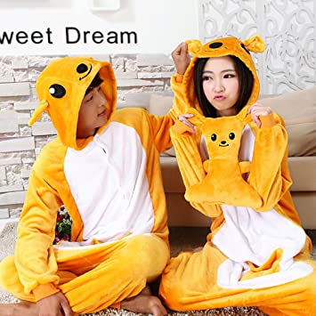 690bae11c2 Autumn and Winter Adult Long-Sleeved Cartoon Animal Piece Pajamas Kangaroo  Male and Female Couple