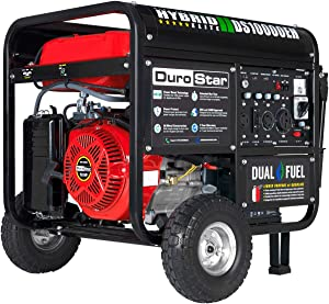 DuroStar DS10000EH Portable Generator, Red/Black