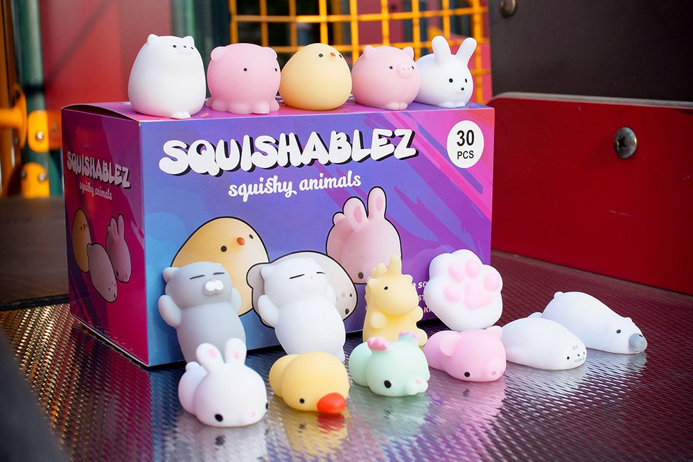 Squishy Animals   Mochi Squishy Toys   Super Soft Mini Animal Squishies   Kawaii Stress Relief Fidget Toys   Lab tested to American safety standards   30 pcs   by SQUISHABLEZ
