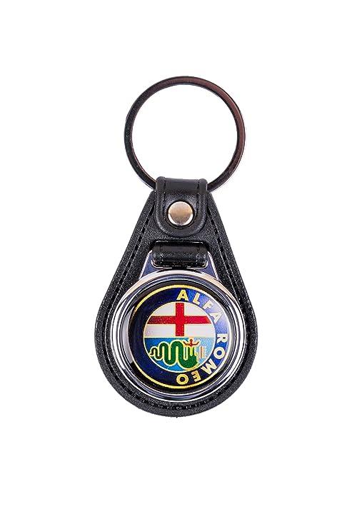 Alfa Romeo Logo de piel llavero Coche llavero: Amazon.es ...