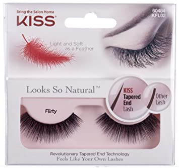fc8e8cd253b Amazon.com : Kiss Products Looks so Natural Lashes, Flirty, 0.03 Pound  (Pack of 3) : Beauty