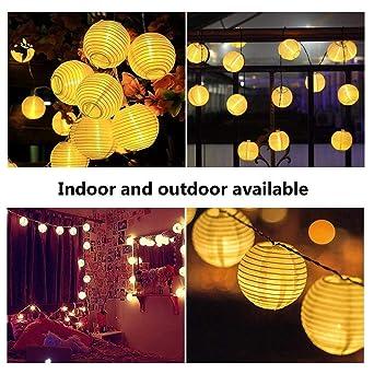 LED Lichterkette Lampions Innen Und Außen 6 Meter 30 LEDs Laternen  Lichterkette Wasserfest Für Zimmer,