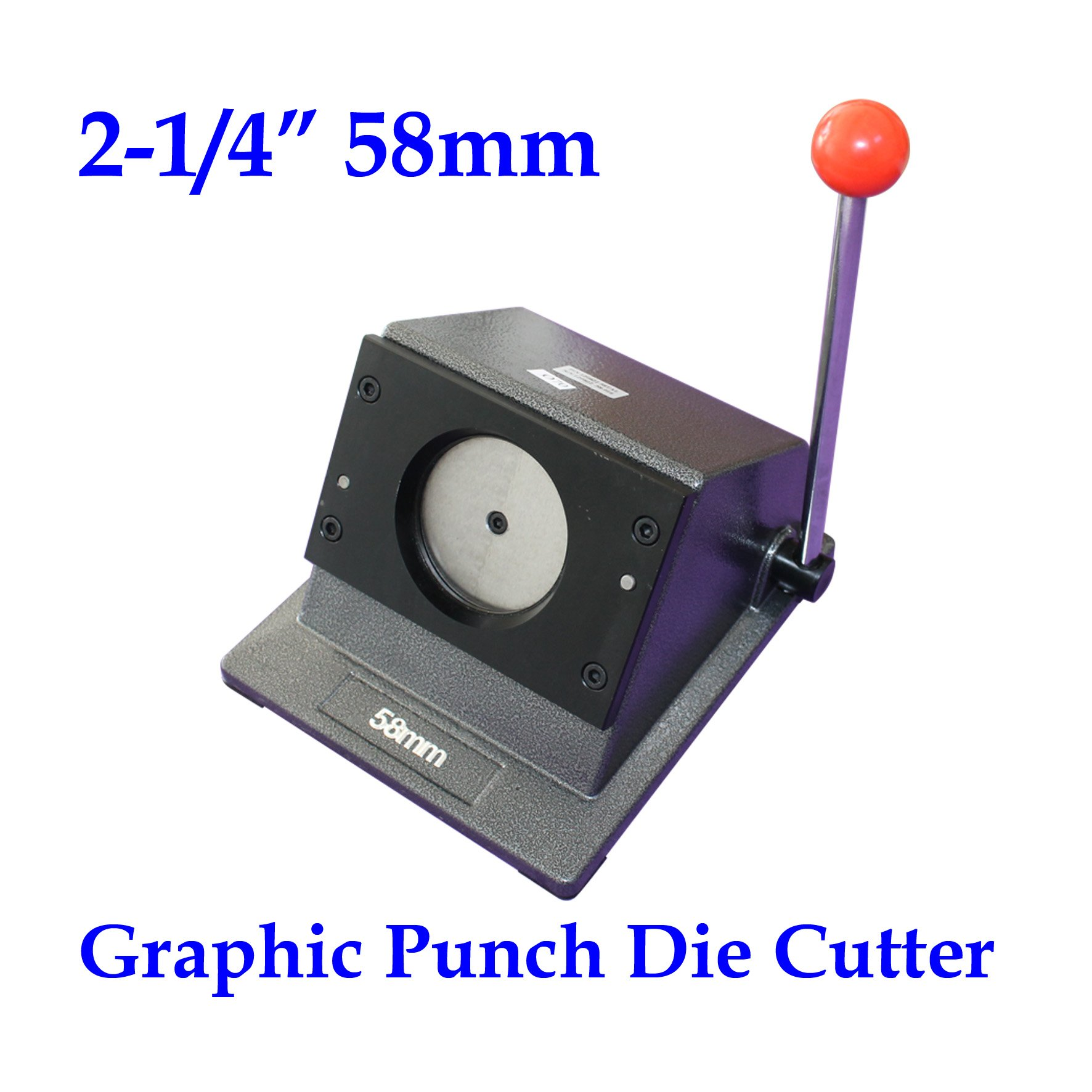 Round 2-1/4'' 58mm Multi Sheets Stack Paper Graphic Punch Die Cutter Button Maker by Button Maker