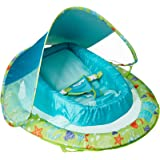 SwimWays Infant Baby Spring Float with Adjustable Sun Canopy - Green