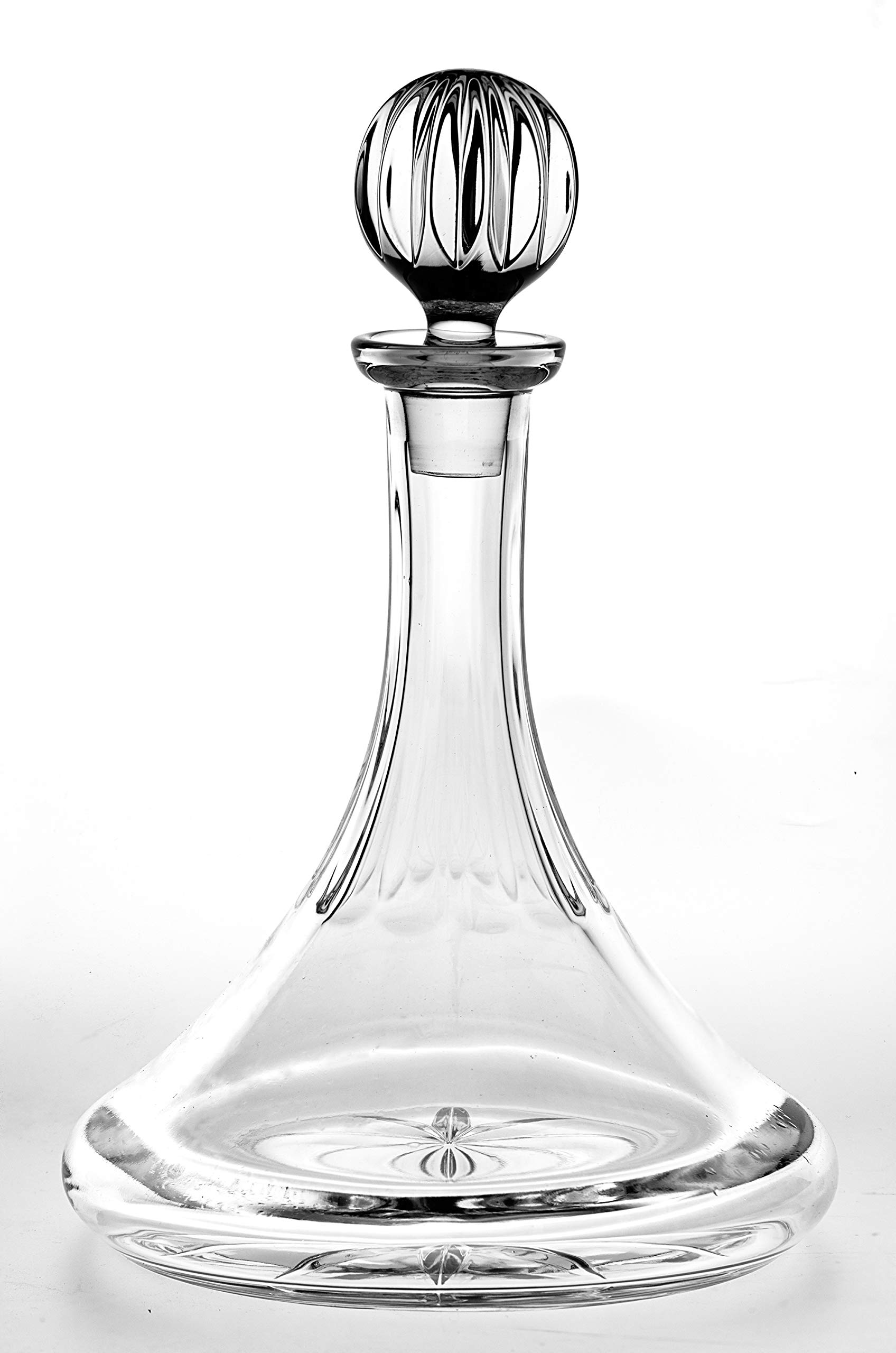Crystal Ships Decanter - Ship Captains Decanter - 32 oz. - With Stopper - Cut Crystal - Made in Europe - By Barski by Barski