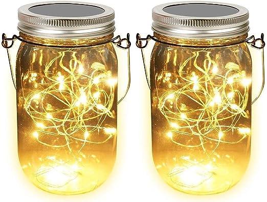 Tarro Albañil Luces de Linterna Solar, Luces de Jardin Solares ...