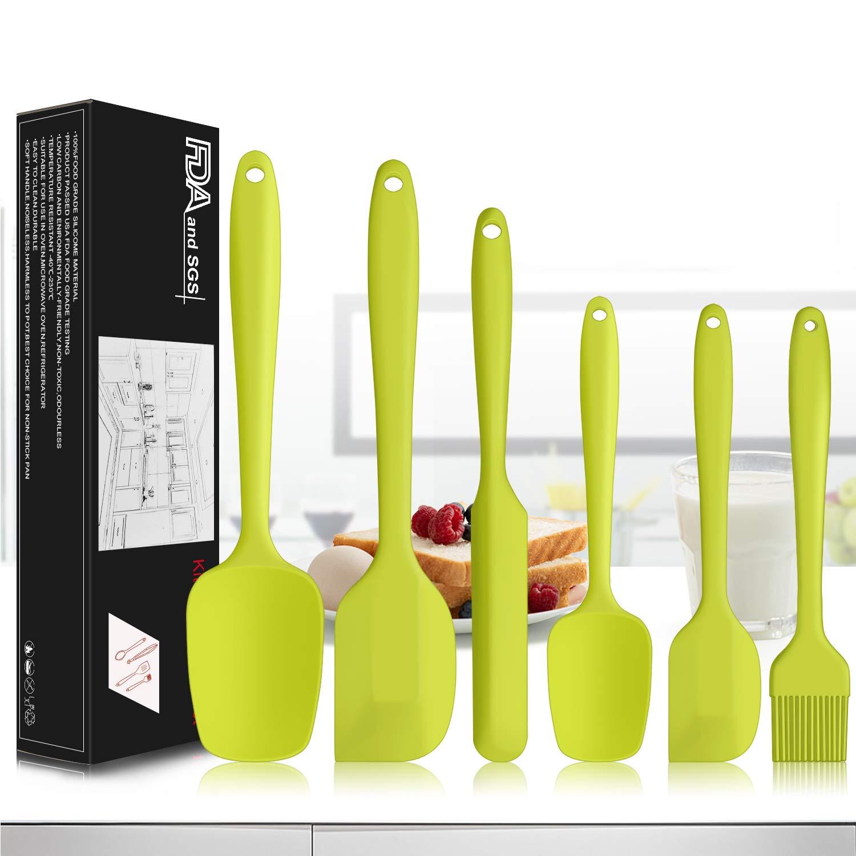 6Pcs Spatula Set Non stick Silicone Heat Resistant Baking Kitchen Tools Spatulas