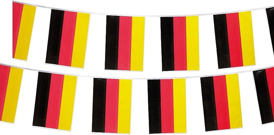 Guirnalda de Alemania fahnenmax - guirnalda de banderines Alemania 4 Meter: Amazon.es: Hogar