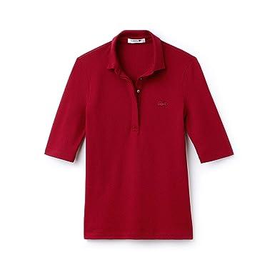 db9c7dfb03bb Lacoste - Women s Short Sleeves Polo - PF7844 Bordeaux