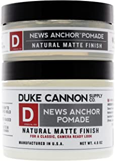 product image for Duke Cannon Supply Co. - Mens News Anchor Pomade Set (2 Piece Set) For Stong Hold and Matte Finish Includes the Full 4.6 oz Size and Travel 2 oz Size