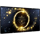 Rhungift 120 inch Projector Screen 16:9 HD Outdoor Portable Foldable Anti-Crease Projection Screen Support Double Sided Proje