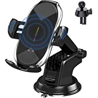 Wireless Car Charger Mount, Auto-Clamping Qi 10W 7.5W Fast Charging Car Phone Holder Air Vent Compatible withiPhone11…