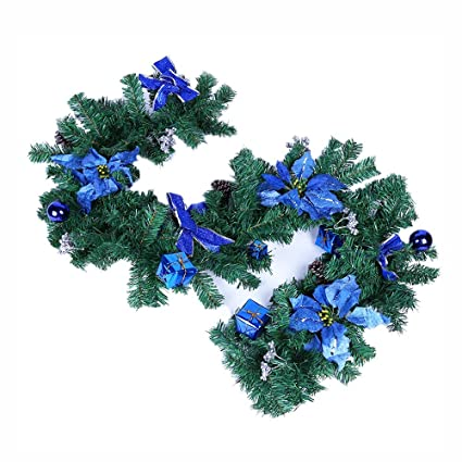 christmas wreath staircase fireplace christmas decorations christmas wreath garland christmas tree rattan 7087inch 180cm - Fireplace Christmas Decorations Amazon