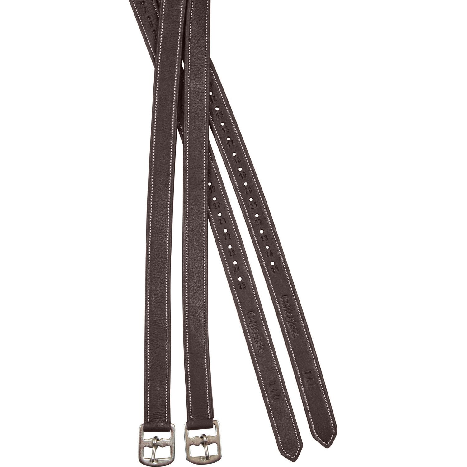 Collegiate Luxe Stirrup Leathers Brown 110Cm 43 Inch