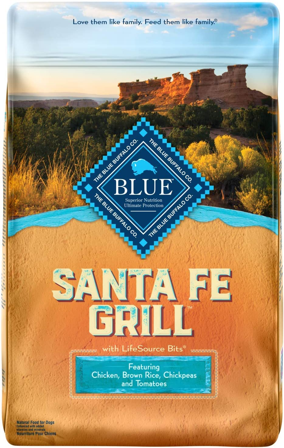 Blue Buffalo Blue Santa Fe Grill Natural Adult Dry Dog Food with USA Farm-Raised Chicken