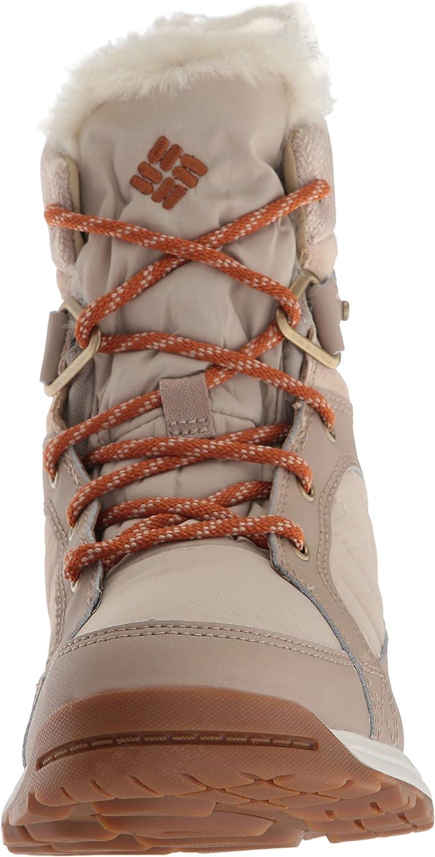 Columbia Meadows Shorty, Chaussures de Randonnée Basses Femme Beige Ancient Fossil Bright Copper