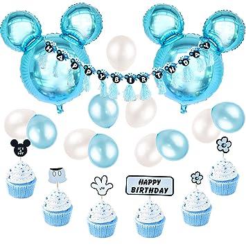 Decoraciones De Cumpleanos De Mickey Mouse Azul Para Ninos