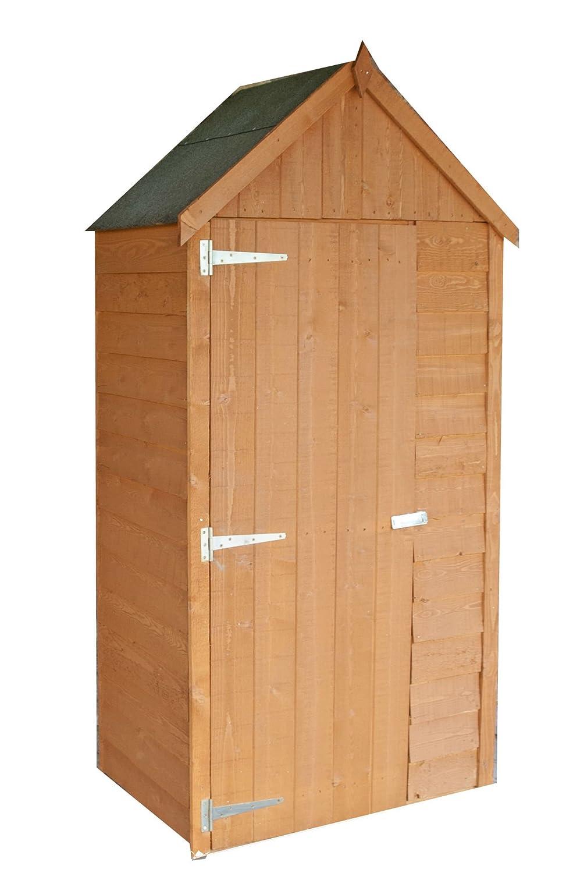 Highwood tool0302dol-1aa 56 x 87 x 190 cm de altura - Cobertizo para herramientas - Miel marrón (1): Amazon.es: Jardín