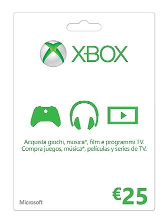 Microsoft - Xbox Live Tarjeta Regalo 25 Euro (Xbox): Amazon ...