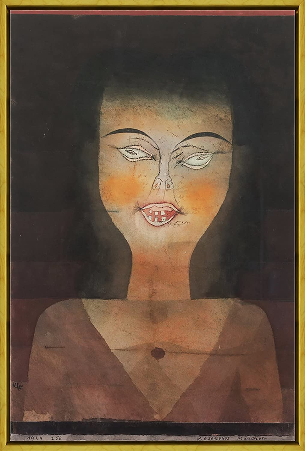 Framed Paul Klee Salt Giclee Canvas Print Paintings Poster Reproduction