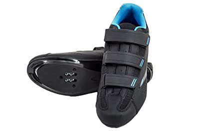 c2d4e29e0 tommaso Pista Women s Road Bike Cycling Spin Shoe Dual Cleat Compatibility-  Black Blue -