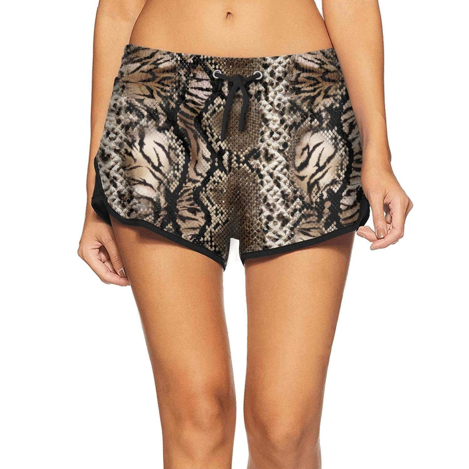 Snake Skin and Leopard Pattern Womens Shorts Durability Colorful