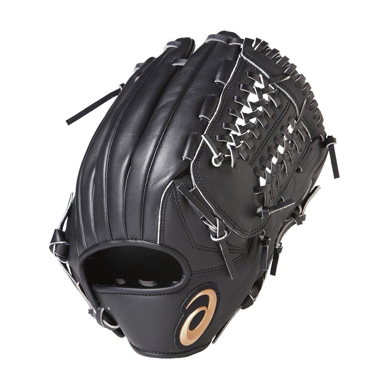 asics(アシックス) 野球 ソフトボール グローブ オールラウンド 右投げ 一般 ダイブ BGS7BB B06X3WHF3Rブラック