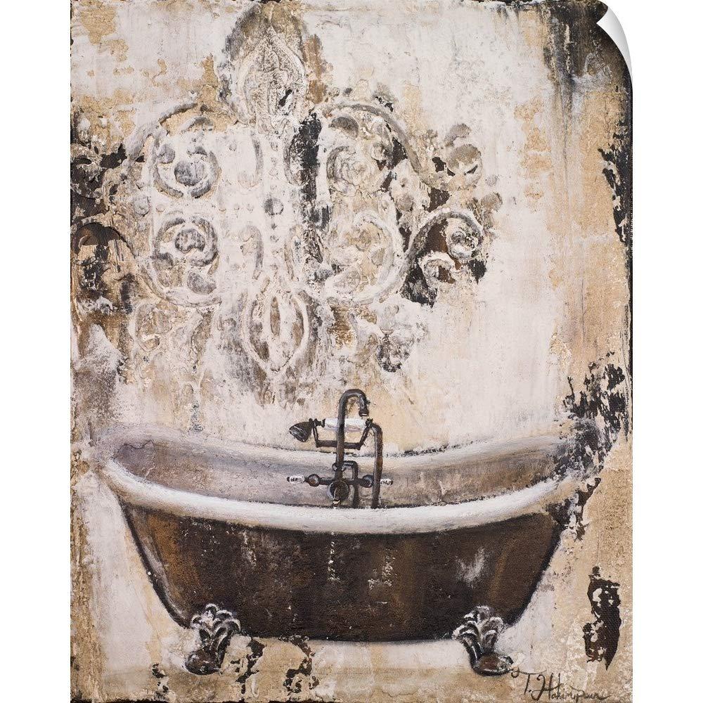 CANVAS ON DEMAND Tiffany Hakimipour Wall Peel Wall Art Print Entitled Bronze Bath I 29''x36''