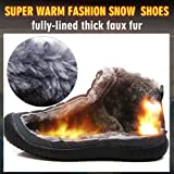 CIOR Men and Women Snow Boots Fur Lined Winter