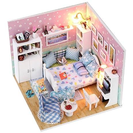 amazon com vinmax mini diy wooden dollhouse toy 3d handwork