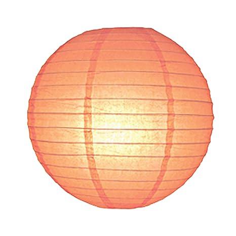 6712-PCH 30 cm Peach linterna de papel lámpara de techo ...
