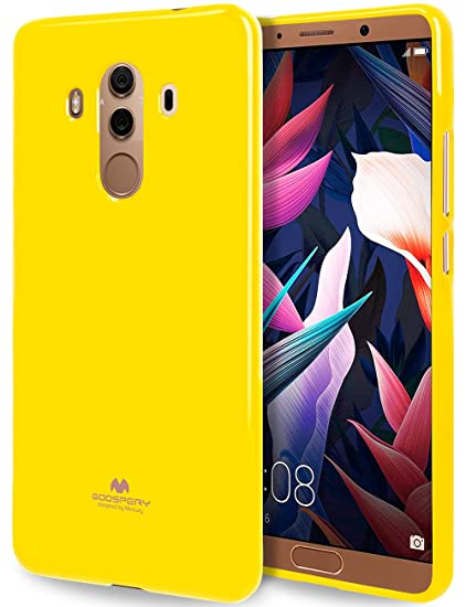 GOOSPERY Marlang Marlang Huawei Mate 10 Pro case - Yellow, Free Screen  Protector [Slim Fit] TPU Case [Flexible] Pearl Jelly [Protection] Bumper  Cover