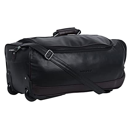 09063bf3ee Mboss Synthetic 56.01 cms Black Travel Duffle (STB 006)  Amazon.in  Bags