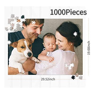 Custom Puzzle for Adults 1000 Pieces for Mom, Gift for Grandma, Boredom Buster Activity, Pet Portrait, Horizontal: Toys & Games
