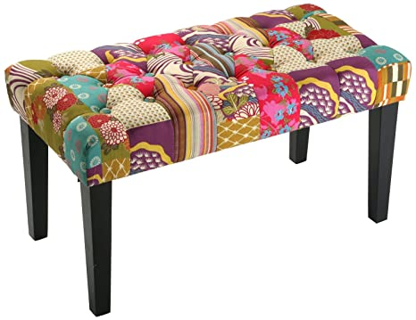 Panchina patchwork letto sgabello bank cm amazon