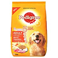 Pedigree Dry Dog Food, Meat & Vegetables for Adult Dogs – 20 kg