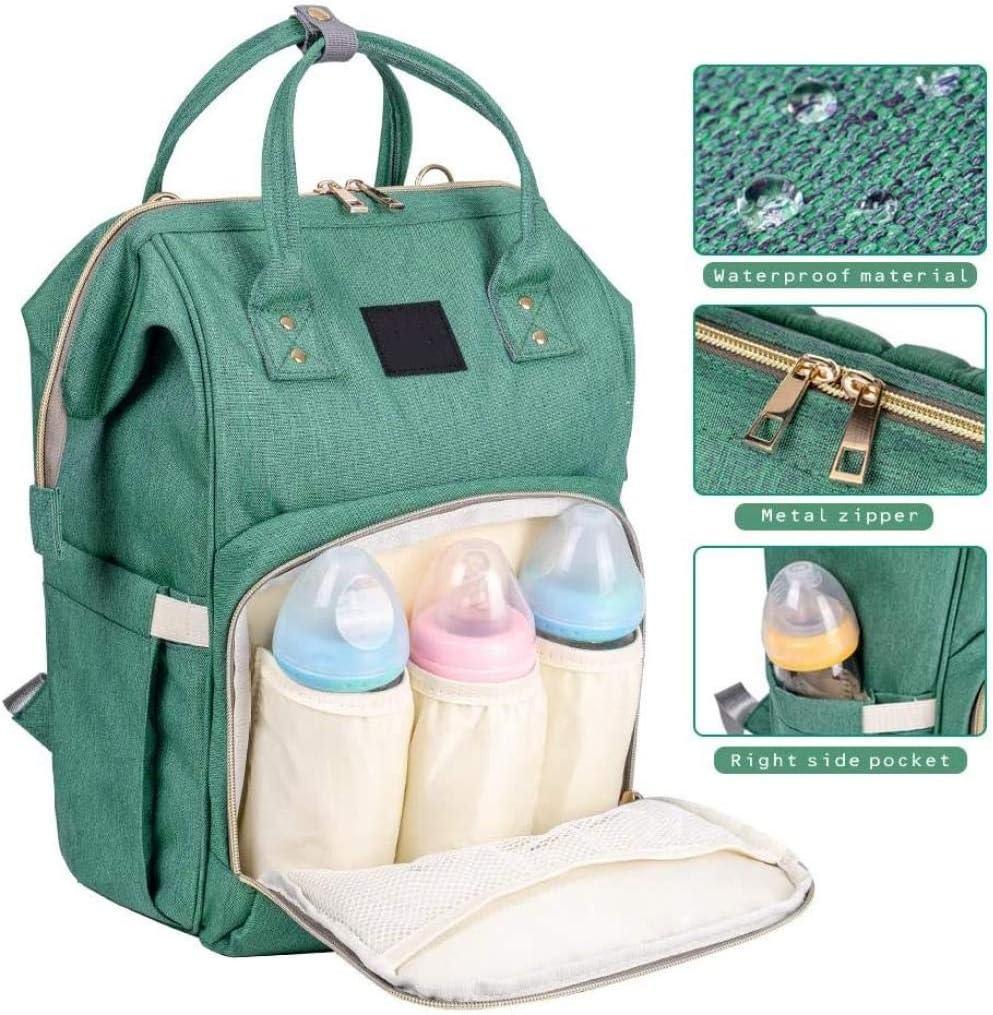 Maman sac , Sac /à langer Sac /à dos de voyage /étanche multifonction Sacs /à couches pour les soins de b/éb/é de grande capacit/é /Él/égant et durable-Tout noir