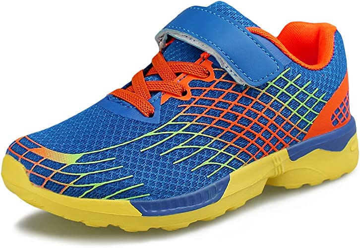 Kids Comfortable Hook And Loop Sneakers Girls Boys Casual Running Shoes Hawkwell