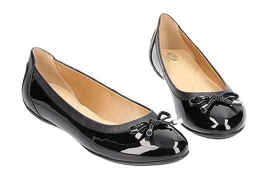 Geox Schuhe CHARLENE schwarz Ballerinas Damen Halbschuhe D84Y7A 00204 C9999 NEU